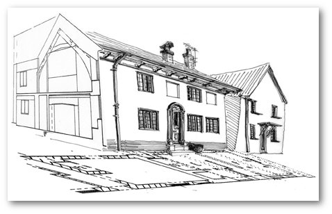 Drawing of a house